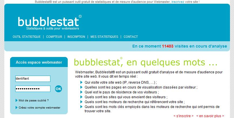 Bubblestats